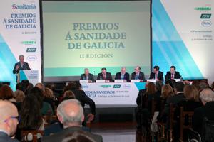 II Premios a la Sanidade de Galicia. Aspecto de la sala durante el acto.